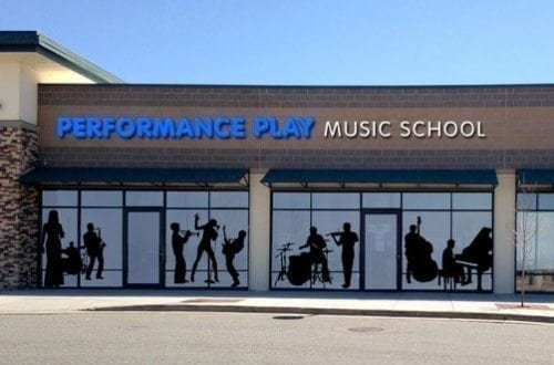 Performance Play Music School store front.